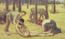 »Der barmherzige Samariter«: Gemälde von Max Liebermann akg-images