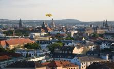 Blick auf die Altstadt mit Zeppelin/ Foto: S. Giersch