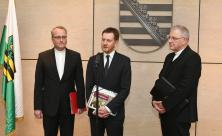 Ministerpräsident Micheal Kretschmer, Carsten Rentzing, Heinrich Timmerevers