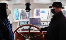 Schiffstaufe  Bischof Tobias Bilz Sea Watch 4