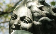 Frau Kopf Stein Statue