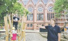 An der Heilandskirche Leipzig soll ein Gemeinde-Familienzentrum entstehen. Foto: A. Kühne
