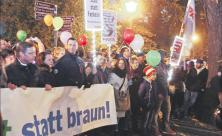 Kundgebung gegen Rechte in Plauen
