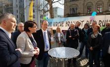 Mahnwache Synode Strukturreform Kirchgemeinden Haus der Kirche Dresden