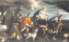 Die Flucht nach Ägypten (Matthäus 2,13-15) auf einem Gemälde Bassano del Grappa (1590). Das Thema der Flucht durchzieht die Bibel wie ein roter Faden. Foto: Sotheby's / akg-images