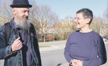 Wolfgang Weidemann und Pfarrerin Hiltrud Anacker