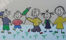 Schulkinder Grundschule Graffiti