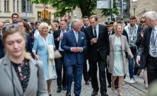 Prinz Charles Camilla Leipzigs Oberbürgermeister Burkhard Jung