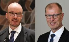 Landesbischof Tobias Bilz und Sachsens Diakonie-Direktor Dietrich Bauer