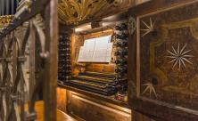 Spieltisch der Großen Silbermann-Orgel im Dom St. Marien zu Freiberg