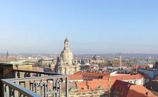 Blick von Kreuzkirche zu Frauenkirche Dresden