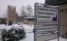 Glockenturm der Chemnitzer Dietrich-Bonhoeffer-Gemeinde Markersdorf