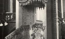 Barockkanzel in der alten Universitätskirche Leipzig. Foto: ZFF                     <div class=