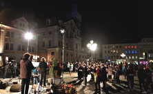 Altmarkt Löbau 3. Oktober Deutschland singt