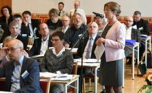 Oberlandeskirchenrätin Margrit Klatte während der Synode © Steffen Giersch
