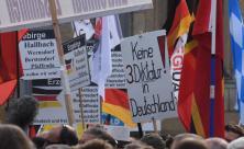 2. Jahrestag von Pegida in Dresden